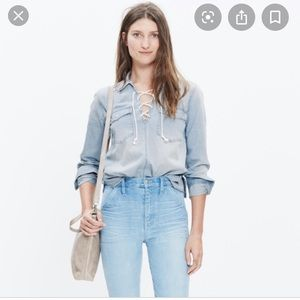 MADEWELL | Denim Lace-up Shirt